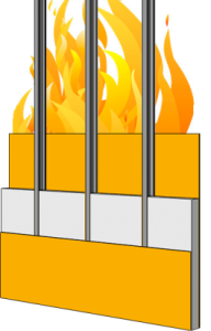 wall panel assemblies in fire