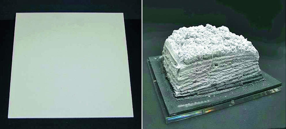 نمونه افزایش حجم پس از بالا رفتن حرارت