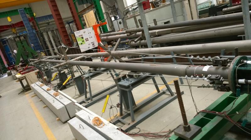 18m long prestressed column